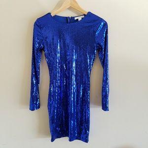 💙Forever 21 Royal Blue Sequin Dress
